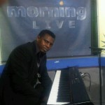 Alex performing at Morning Live TV