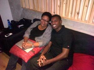 Alex with Sibongile Khumalo